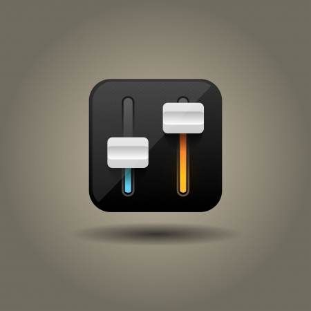 User interface power slider icon  Vector