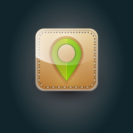 User interface map marker icon  Vector
