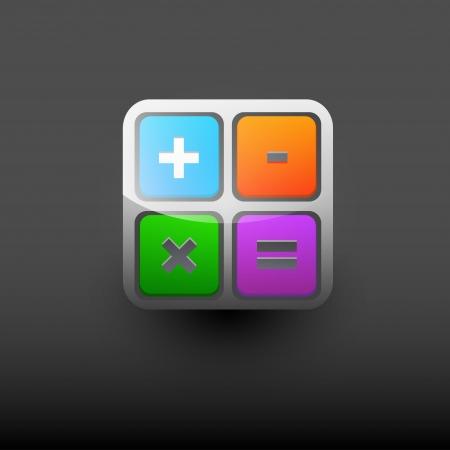 User interface calculator icon  Ilustração
