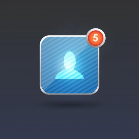User interface button  Vector