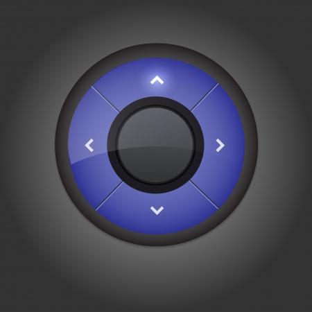 User interface navigation element  Vector