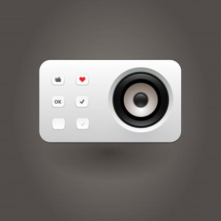 User interface media player Stock Vector - 21314255