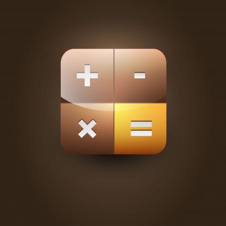 User interface calculator icon Stock Vector - 21314258