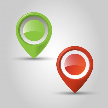 User interface map marker  Vector
