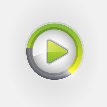 Play button Stock Vector - 21310975
