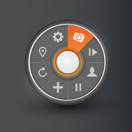 Navigation element for camera  Vector