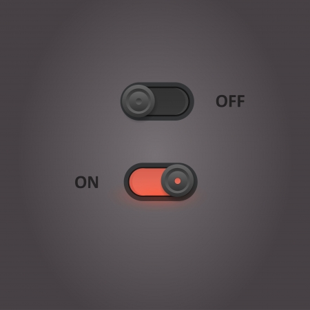 User interface power sliders  Vector