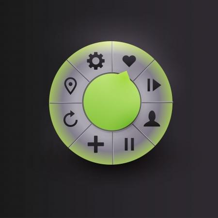 Navigation element for camera Stock Vector - 21314284
