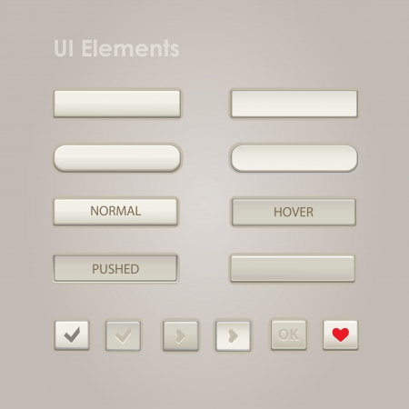 UI Web Elements  Buttons, Switchers, On, Off, Player, Audio, Video  Vector