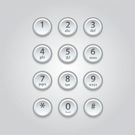 User interface keypad for phone  Stock Vector - 21314310