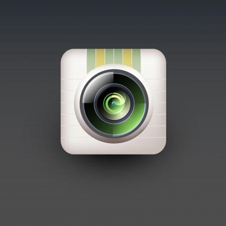 User interface camera lens icon Stock Vector - 21314312