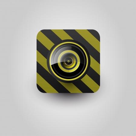 User interface camera lens icon  Vector