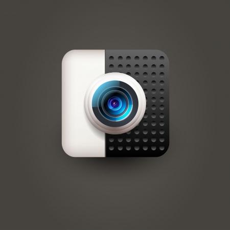 User interface camera lens icon  Stock Vector - 21314314