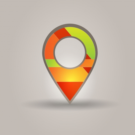 map marker: User interface map marker  Illustration