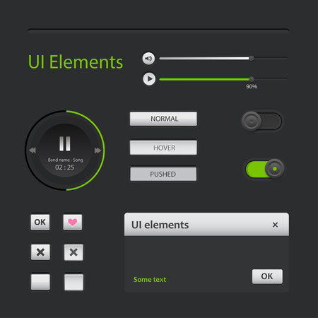 User interface elements  Vector