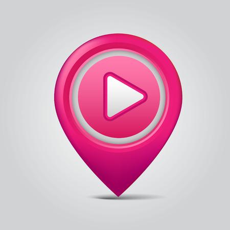 rotulador: indicador de mapa Vectores