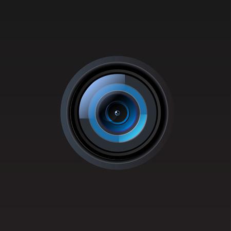 Vector camera lens illustration Illustration