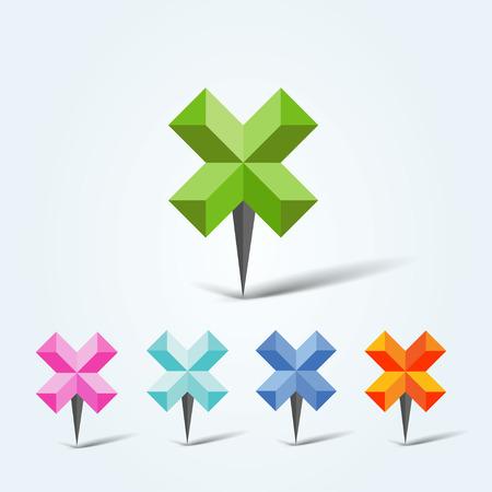 map pins: Set of vector colorful map pins Illustration