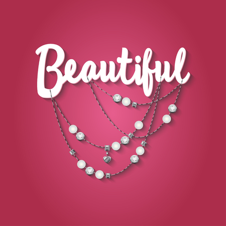 girls night out: Abstract Vector illustration with jewelery elements.