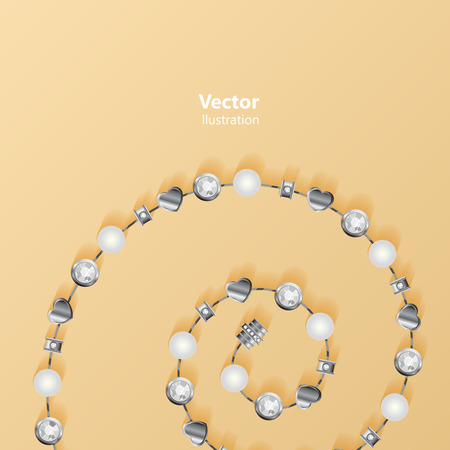 jewelery: Abstract Vector illustration with jewelery elements.