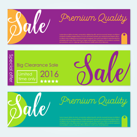 closeout: Set of vector Sale banners Illustration