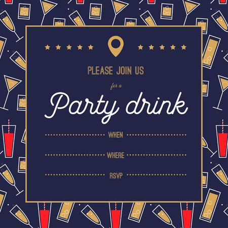 party invitation Vektorové ilustrace