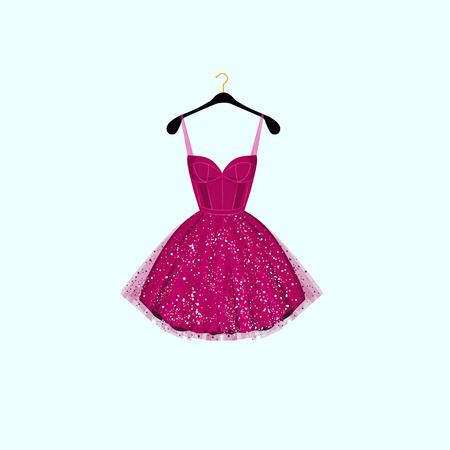 Fancy party dress. Vector illustration  イラスト・ベクター素材
