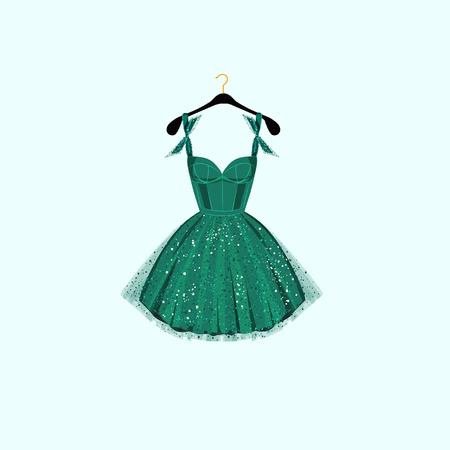 fancy dress party: Fancy party dress. Vector illustration Illustration