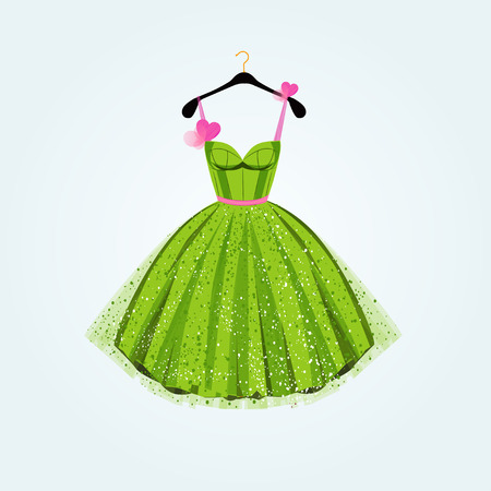 Spring party dress. Vector illustration Imagens - 53302055