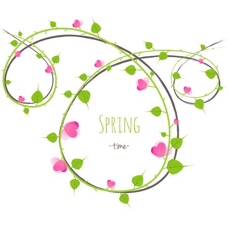 spring time: Spring time vector background fresh flowers in blossom Illustration