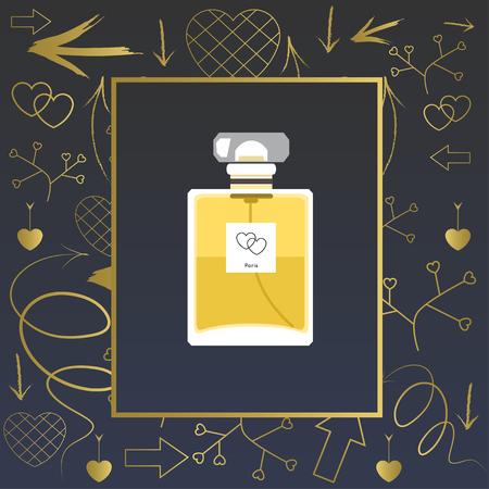 perfume bottle: Perfume bottle Vector illustration