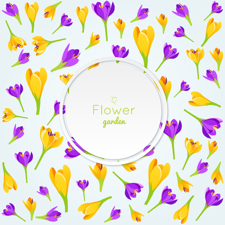 Spring abstract background.Vector Illustration