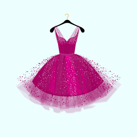 Purple Party dress illustration