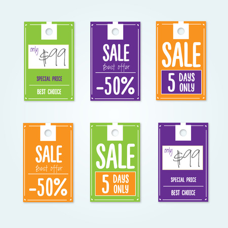 Sale Tags with sale messages  イラスト・ベクター素材