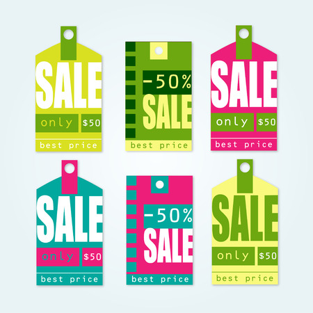 Sale Spring Tags with sale messages