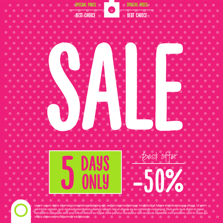 Sale Poster. End of Season, Clearance Sale,vector illustration