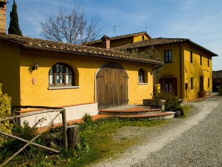 Traditional country farmhouse in Tuscany.
