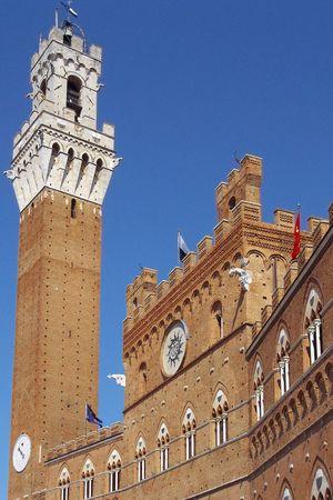Historic palace in the Italian city of Siena in Tuscany, Italy Stock Photo