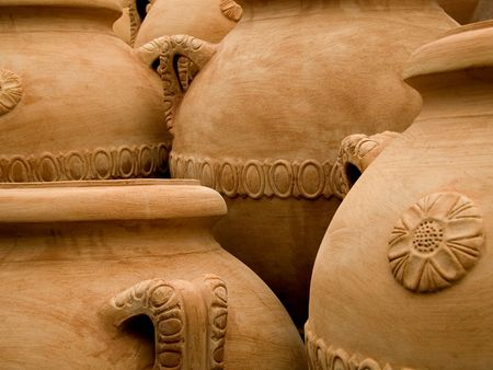 characteristic: Terracotta jars made in Tuscany, Italy
