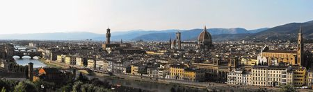 Florence Panorama with major Renaissance Landmarks photo