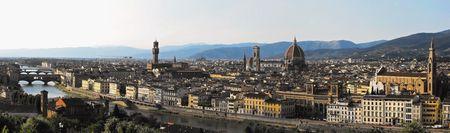 Florence Panorama with major Renaissance Landmarks photo