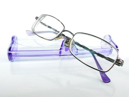 Designer prescription eye glasses with case