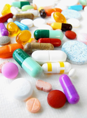 Medication: mixed pills, tablets and capsules