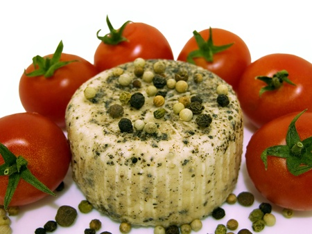 Pepper cheese and plump ripe tomatoes from Malta