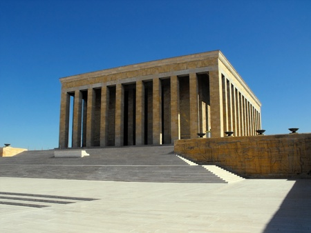 mausoleum: Ataturk Mausoleum in Ankara, Turkey, September 2011