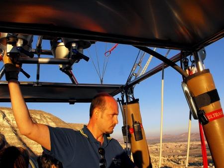 Hot Air Balloon Pilot in Cappadocia, Turkey, September 2011