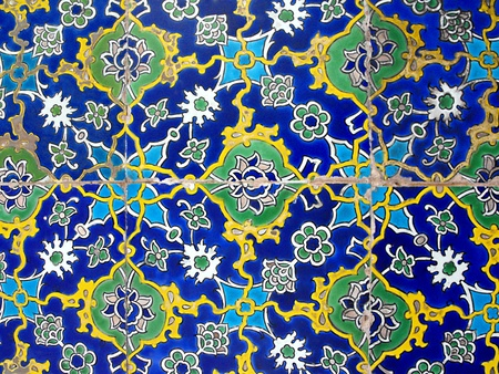 Antique Ceramic Tiles in the Topkapi Palace, Istanbul, Turkey photo