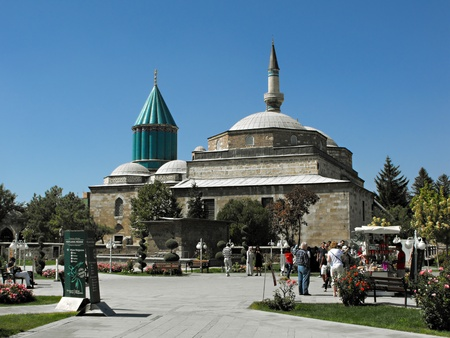 mausoleum: Mevlana Mausoleum and Museum, Konya, Turkey, September 2011