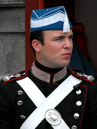 Royal Guard at Amalienborg Castle, Copenhagen, Denmark, July 2010