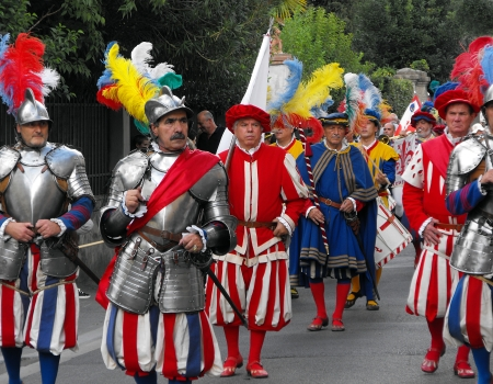 Historic Pageant at Renaissance Festival in Florence, Italy, September 2010 Editorial